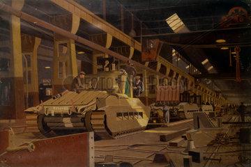 Building Matilda Tanks at Horwich  c 1940s.
