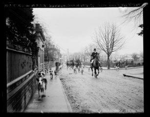 'The East Essex Hunt. Trinity Street  Halstead'  1901