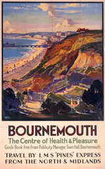 'Bournemouth  The Centre of Health & Pleasure'  LMS poster  c 1930s.