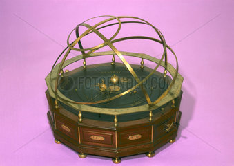 Orrery with armillary bands  1740-1747.