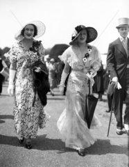 Fashions at the Royal Ascot Races  Berkshire  14 June 1932.