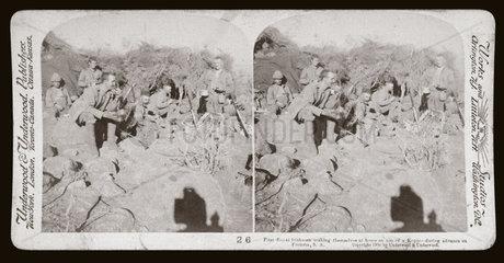 'First Royal Irishmen during advance on Pretoria  South Africa'  1900.