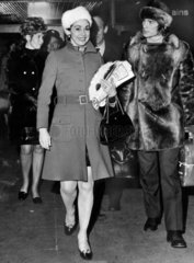 Margot Fonteyn and Rudolf Nureyev  Piccadilly Station  November 1968.