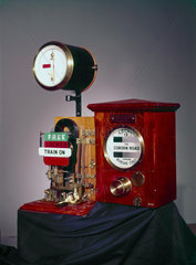 Sykes Lock-and-Block train signalling instrument  c 1897.