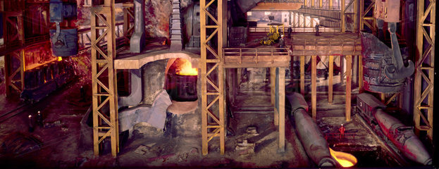 Basic oxygen steelmaking plant. Diorama.