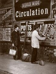 'Street Advertising'  1877.