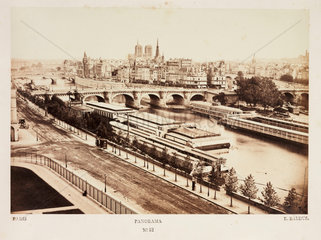 Panorama of Paris  c 1865.