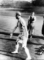 King Edward VIII playing arrow golf  21 September 1936.
