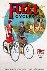 'Fleet Cycles'  poster  c 1920s.