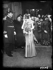 Military wedding  St Martin-in-the-Fields  Trafalgar Square  London  2 April 1935.