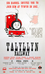 'Sir Handel invites you to join him at Tywyn in 1983'.