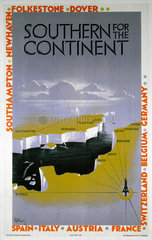 'Southern for the Continent'  SR poster  1933.