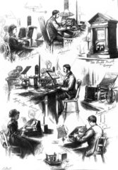 At the GPO telegraphy office  1874.