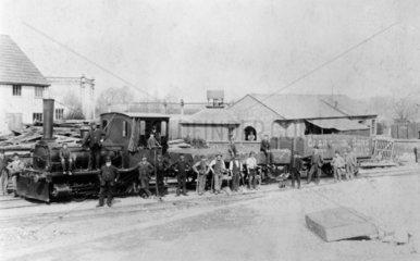 Wantage Tramway Company 0-4-0WT steam tram engine No 5  c 1892.