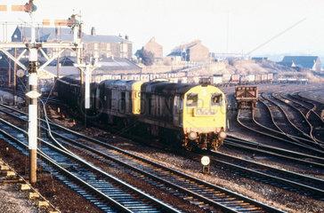 Class 20 freight train  c 1980s