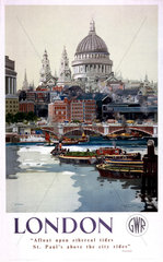'London'  GWR poster  1940s.