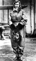 Amy Johnson  English aviator  c 1930.
