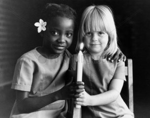 Children celebrating the independence of Zimbabwe  20 December 1979.