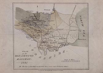 'Plan of the Darlington Railway  1821'.