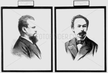 Prof K S Olszewski and Prof Z F Wroblewski  Polish chemists  c 1880.