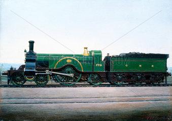 Great Northern Railway 4-2-2 locomotive no 773  c 1900.