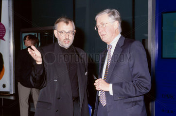 Science Museum director Dr Lindsay Sharp and Michael Meacher  2002.