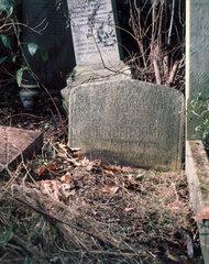 Headstone of Alexander Graham Bell  London  1996.