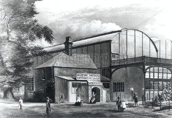 Entrance to the Patent Museum  South Kensington  London  1863.