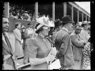 Woman wearing sunglasses  Royal Richmond Horse Show  June 1939.