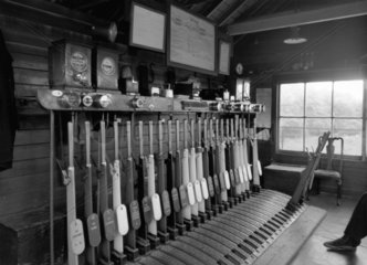 Signal box interior  c 1950-1960. East Dulw