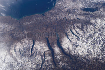Finger Lakes from space  December 2004.