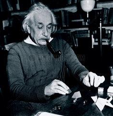 Albert Einstein at Princeton  USA  4 February 1944.
