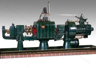 Parsons' radial flow steam turbine-generator  1891.