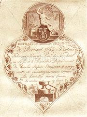Pernod Fils & Boiteux label  c 1820.