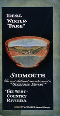 'Sidmouth  the most sheltered resort in Glorious Devon'  guidebook  c 1920s.