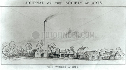 Sir W K Perkin's first dyeworks  1858.