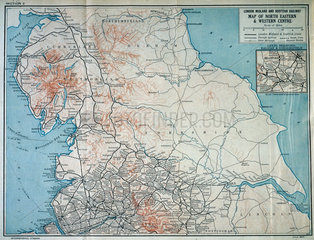 Map of the London  Midland and Scottish Railway  c 1930.
