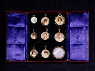 Photographic jewellery  c 1860.
