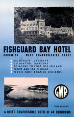 'Fishguard Bay Hotel'  GWR poster  1923-1947.