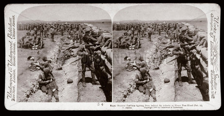 'Royal Munster Fusiliers fighting  Honey Nest Kloof Battery  South Africa'  1900.