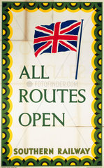 'All Routes Open'  SR poster  1945.