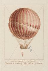 'The Aerostatic Globe'  1783.