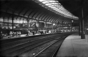 Newcastle Station  1948.