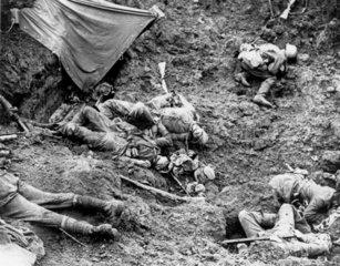 German dead at the Battle of Pilckem Ridge  31 July 1917.