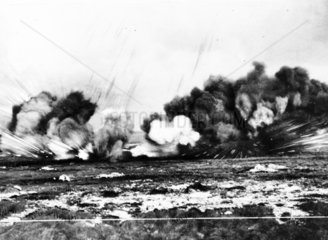 Explosion  Western Front  WWI.
