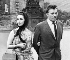 Elizabeth Taylor and Richard Burton  Edinburgh  July 1963.