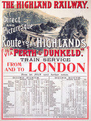 'Route to the Highlands'  Highland Railway poster  1905.