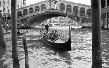 Gondola on a Venitian canal  c 1930s.
