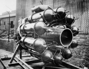 Whittle W1 jet propulsion engine at Lutterworth  Leicestershire  1941.