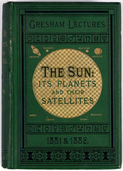 Cover to 'The sun: its planets and their satellites'  1882.